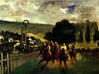 Racing at Longchamp, 1864.