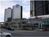 EDS regional offices in Tower 500 and Tower 600 linked to the Renaissance Center in Detroit.