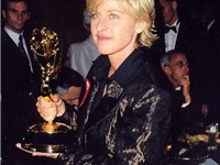 Ellen DeGeneres at the Emmy Awards, 1997