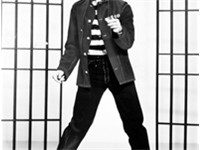Presley in a promotional photo for Jailhouse Rock released by MGM on November 8, 1957