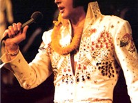 Elvis Presley, in Aloha From Hawaii television broadcast via satellite on January 14, 1973