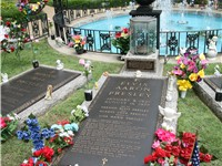 Elvis Presley's final resting place at Graceland