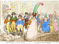 Change in Bond Street, James Gillray