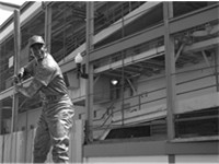 "Ernie Banks, ""Mr Cub,"" bronze statue at Wrigley Field"