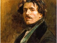 "Self-portrait, 1837. ""Eug ne Delacroix was a curious mixture of skepticism, politeness, dandyism, wi"