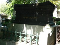 Delacroix 's tomb in the P re Lachaise Cemetery.