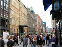 Aleksanterinkatu, a commercial street.