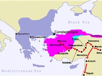 Route of the First Crusade through Asia