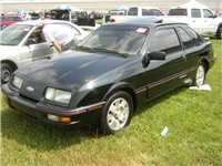 1985 Merkur XR4Ti, showing front panel also used by pre-facelift Ghia models