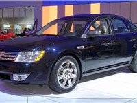 "The 2008 Ford Five Hundred prototype, which was renamed ""Taurus"" upon Alan Mulally's direction."