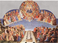 San Marco, Florence,The Day of Judgement, predella panel to surmount an altarpiece showing the preci