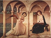 One of several versions of The Annunciation is located in St Mark's Convent.