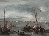 The Lagoon Looking Towards Murano from the Fondamenta Nuova (1765-70) Oil on canvas, 31,7 x 52,7 cm.