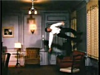 "Astaire dancing on the walls and ceiling in ""You're All the World to Me"" from Royal Wedding (1951)"