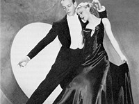 "An RKO publicity still of Astaire and Rogers dancing to ""Smoke Gets in Your Eyes"" in Roberta (1935)"