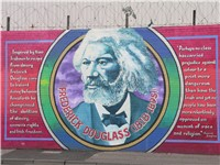Mural featuring Frederick Douglass in Belfast, Northern Ireland.