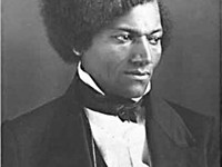 Frederick Douglass stood up to speak in favor of women's right to vote.