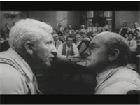 Henry Drummond (Tracy, left) and Matthew Harrison Brady (March), right) in Inherit the Wind