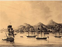 Arrival of the Nova Scotians in 1792 which marked the founding of Freetown