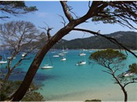 Courtade's Beach on Porquerolles.