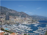 View of Port Hercule, Monaco