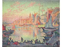 Paul Signac, The Port of Saint-Tropez, oil on canvas, 1901.