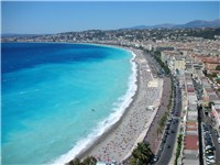 Seafront at Nice, capital of the Alpes-Maritimes département.