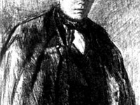 The young Dostoyevsky, in a portrait of Trutovsky, 1847