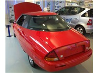 The EV1 featured an aluminum frame, dent-resistant plastic body panels, and was sculpted to a drag c