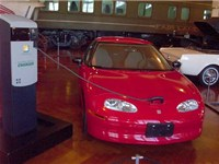 EV1 shown plugged into charging station