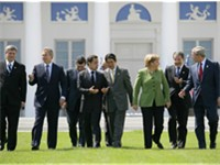 Chancellor Angela Merkel hosting the G8 summit in Heiligendamm.