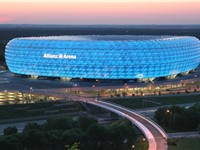 The Allianz Arena is host to the football club Bayern Munich and was a venue for the 2006 FIFA World