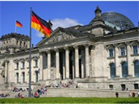 The Reichstag in Berlin is the site of the German parliament.