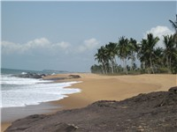 Beach in Ghana