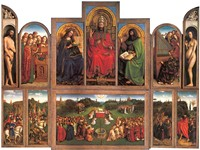 Opened view of the polyptych.