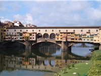 The Vasari Corridor passing over the Ponte Vecchio