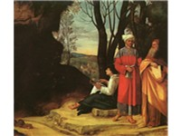 The Three Philosophers, Vienna. Attributed to Giorgione by Michiel, who said Sebastiano del Piombo f