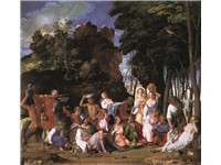 The Feast of the Gods, c. 1514 completed by his disciple, Titian, 1529; Oil on canvas; National Gall