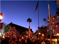 Downtown Glendale with Glendale Glitters around Christmas