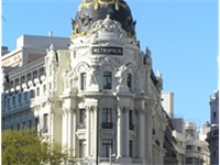 The Metropolis Building located in Gran Vía and Alcalá Street