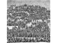 Group photo of Australian 11th Battalion soldiers on the Great Pyramid in 1915.