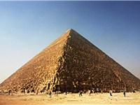 The Great Pyramid of Giza, in 2005. Built c. 2560 BC, it is the oldest and largest of the three pyra