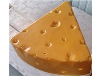 A cheesehead hat, commonly worn by Packer fans