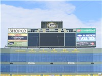 Retired numbers on display in the Lambeau Field's north end zone in October 2007