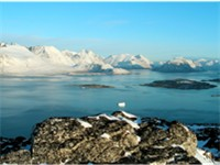 Southern Greenland scenery, near Nanortalik, where fjords and mountains dominate the landscape.