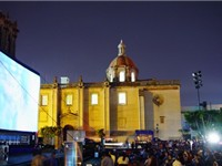 Guadalajara Film Festival with inflatable screen