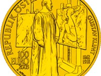 The painting coin, featuring Gustav Klimt