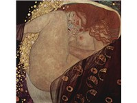 Danaë by Gustav Klimt, painted 1907. Private Collection, Vienna