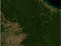 Satellite image of Guyana 2004.