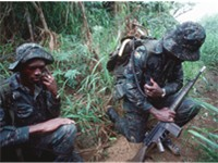 Soldiers of the Guyana Defence Forces